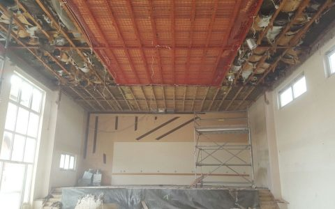 Abbrucharbeiten Mehrzweckhalle Hilsbach