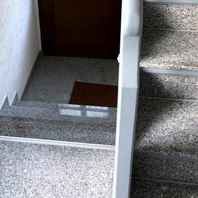 Treppenhaus Vorher/Nachher